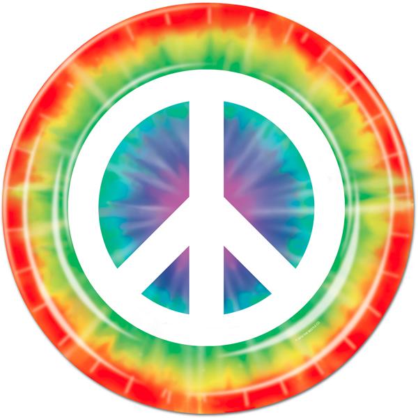 Stencil Tie Dyed Hippie
