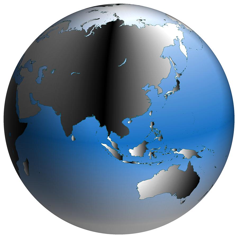 medium resolution of bigstock world globe asia with blue sh 168991