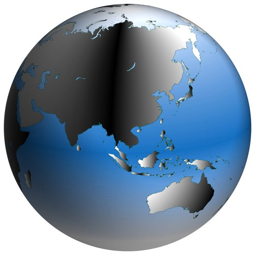 small resolution of bigstock world globe asia with blue sh 168991