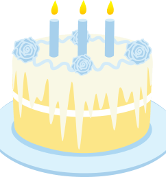free clipart birthday cake with candles [ 6055 x 5722 Pixel ]