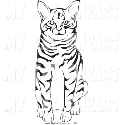 cat clipart clip cute sitting baby library bobtail american