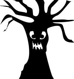 scary tree silhouette clipart library [ 1133 x 1600 Pixel ]