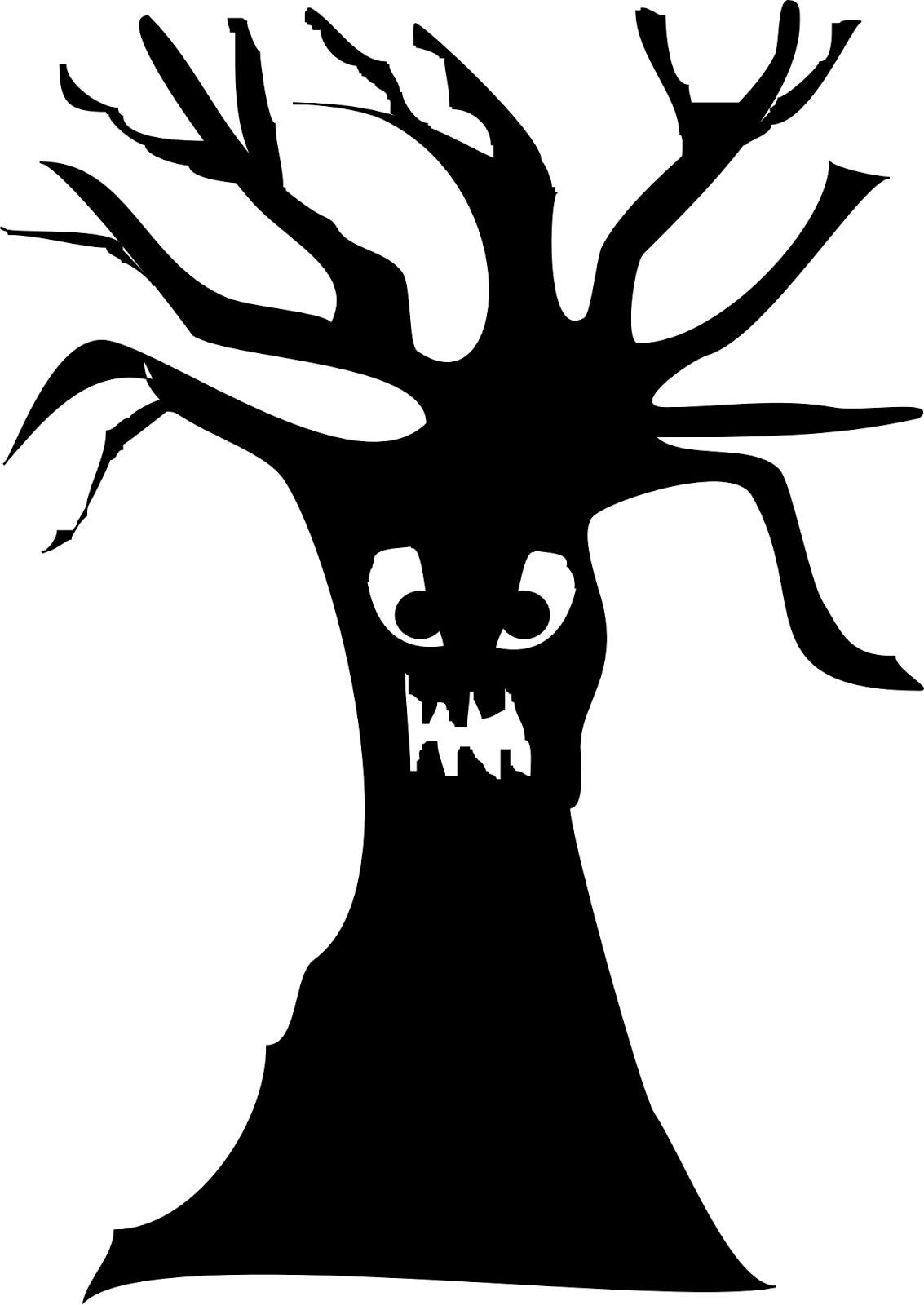 hight resolution of scary tree silhouette clipart library