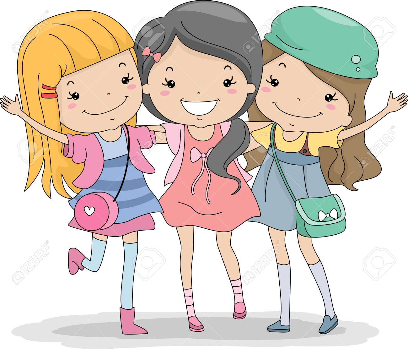 free cartoon friendship images