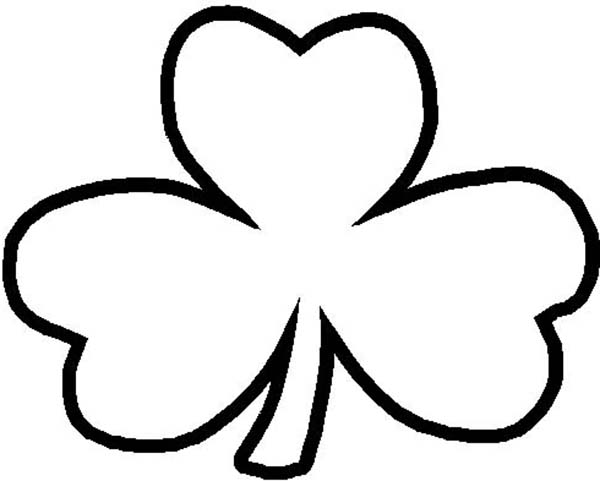 Free Four Leaf Clover Outline, Download Free Clip Art