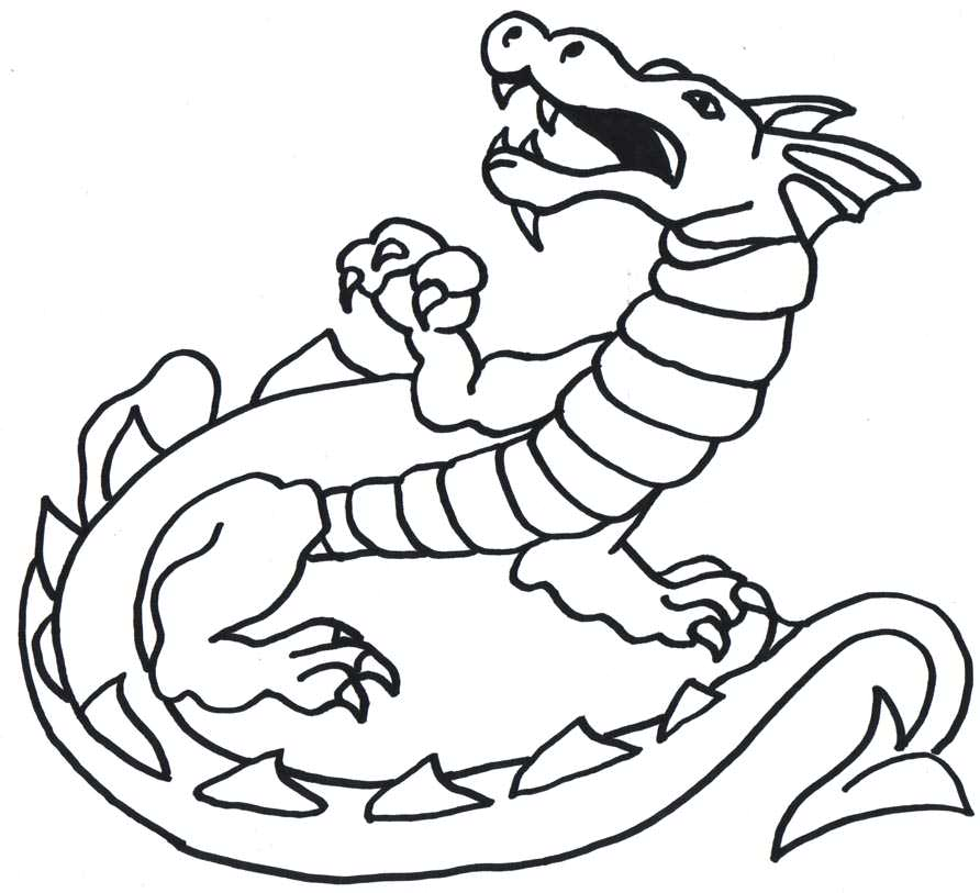 free chinese dragon outline