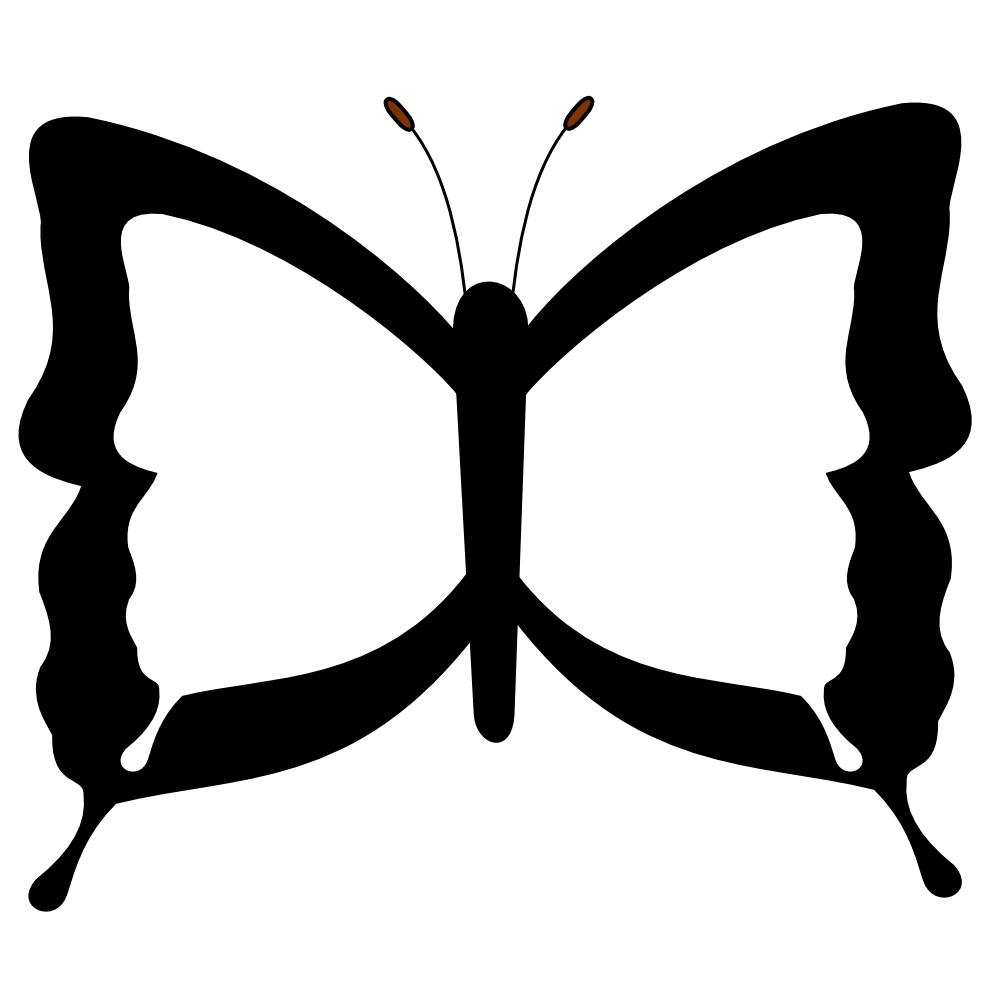 hight resolution of black and white butterfly images clipart library