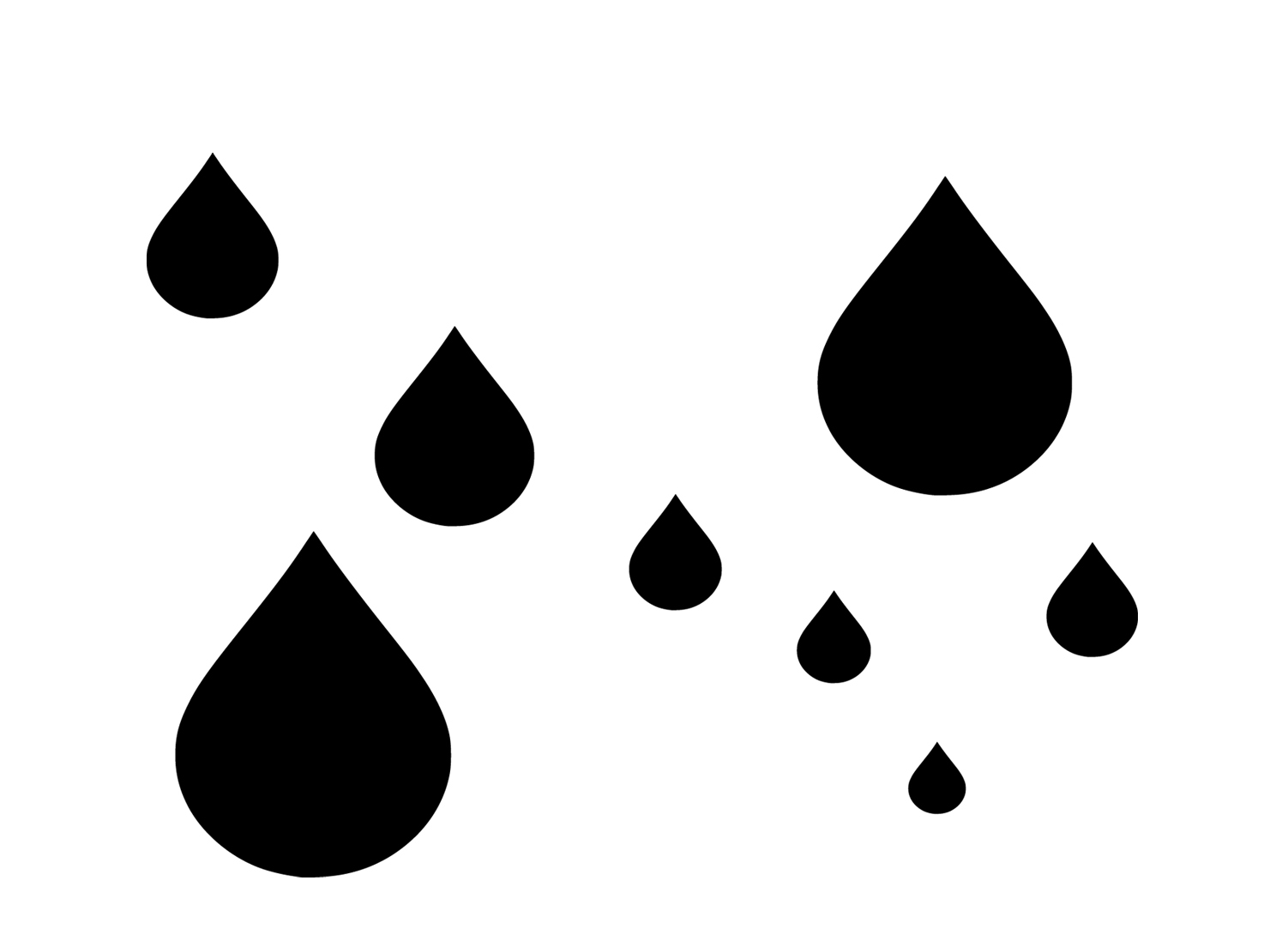 hight resolution of raindrop writing template