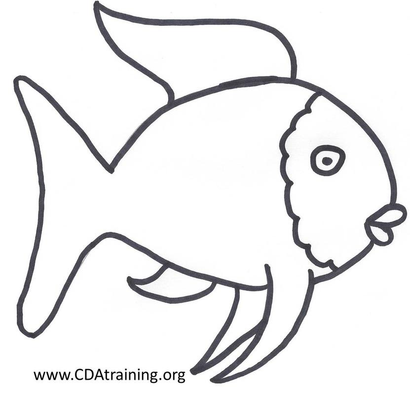 Free Rainbow Fish Template, Download Free Clip Art, Free