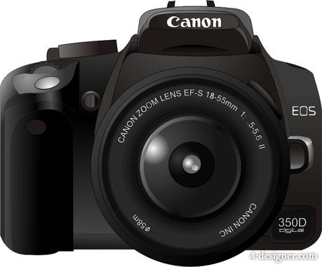 4Designer Canon350D camera vector material
