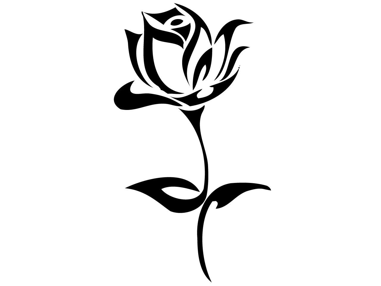 Black And White Unicorn Tattoo