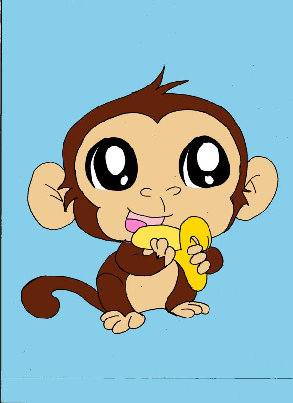 free cute monkey drawing