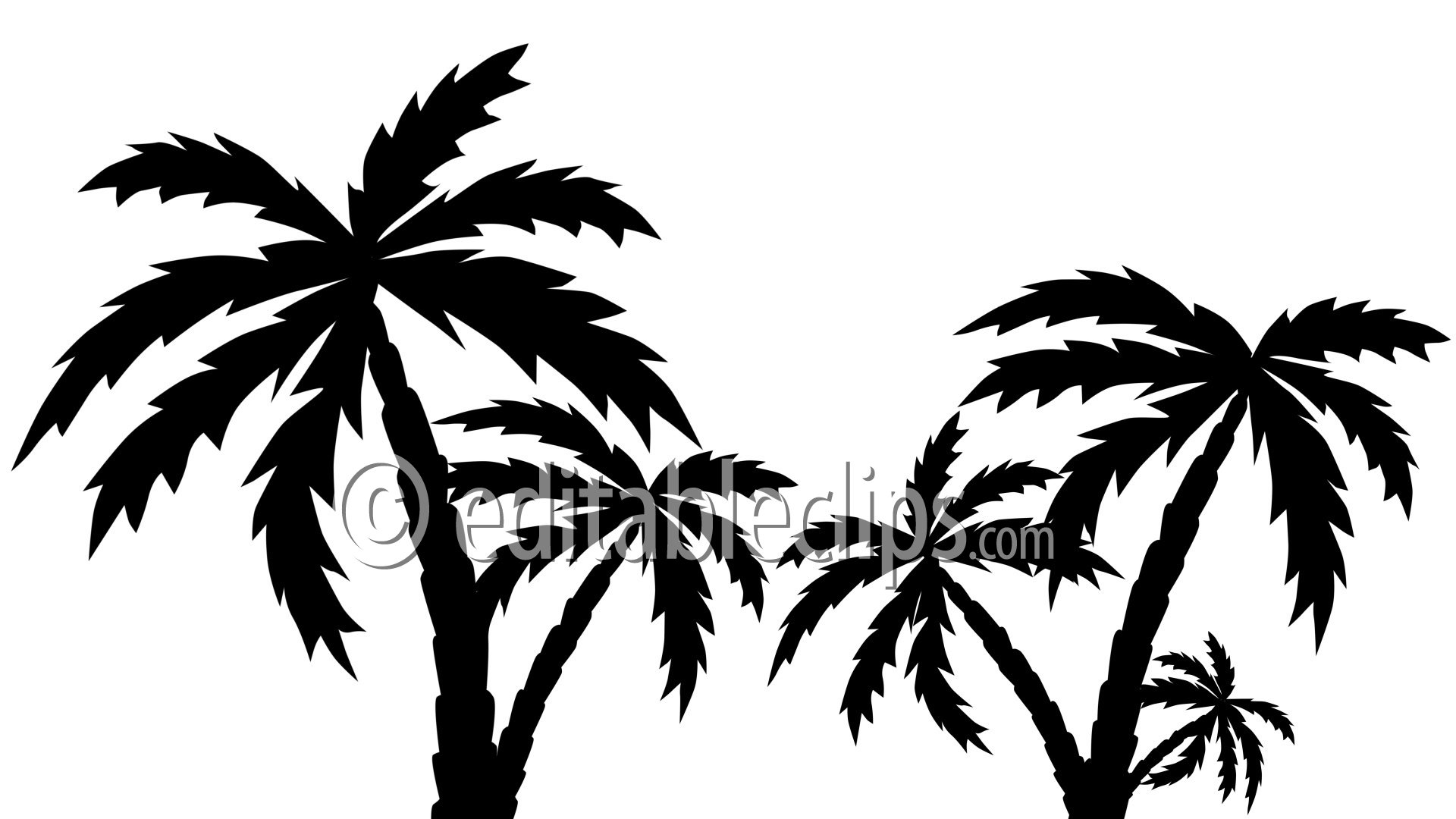 Free Tree Free Clipart Silhouette People Palm Tree