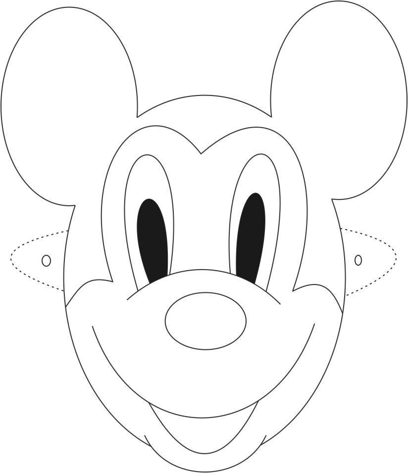 Free Mickey Mouse Face Outline, Download Free Clip Art