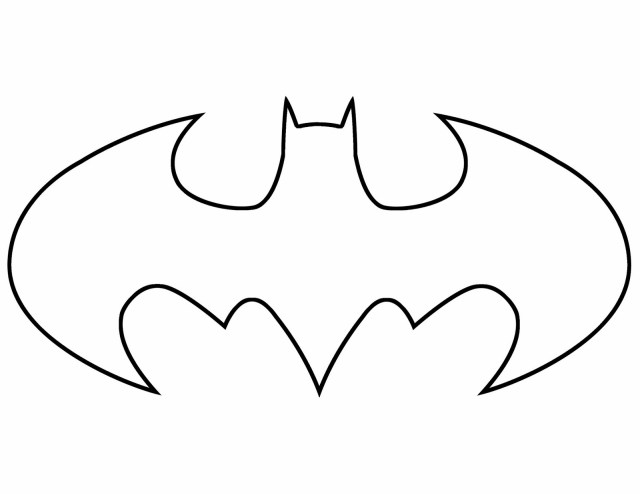 Free Batman Symbol Coloring Page, Download Free Batman Symbol