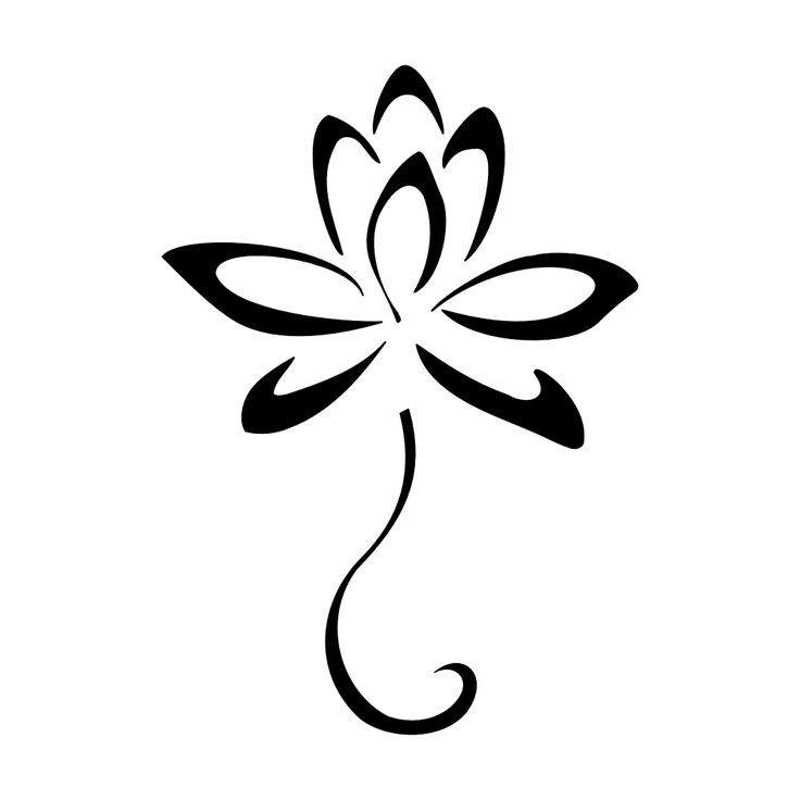 Simple Tribal Flower Tattoo Designs