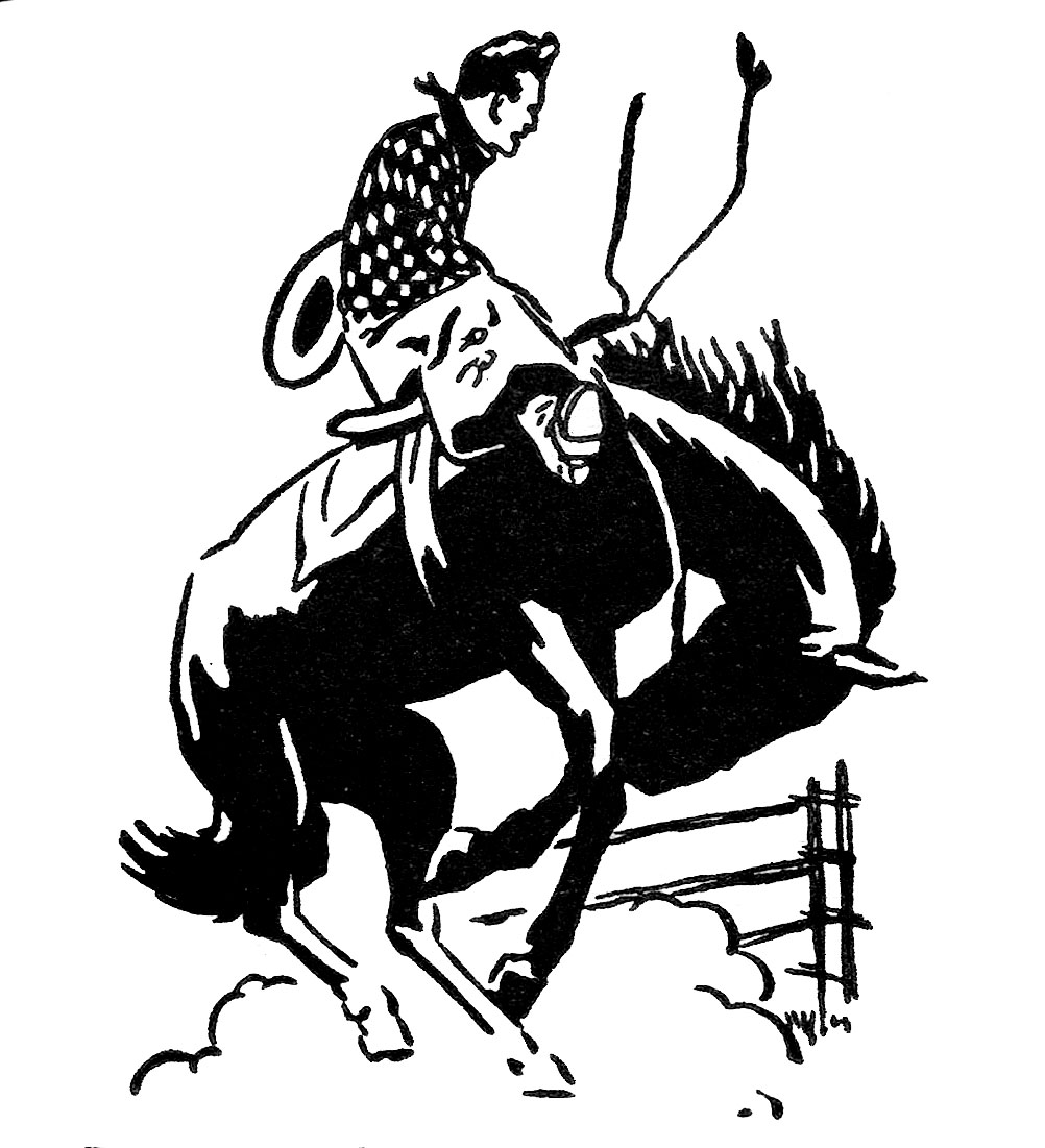 hight resolution of vintage clip art rodeo cowboy the graphics fairy