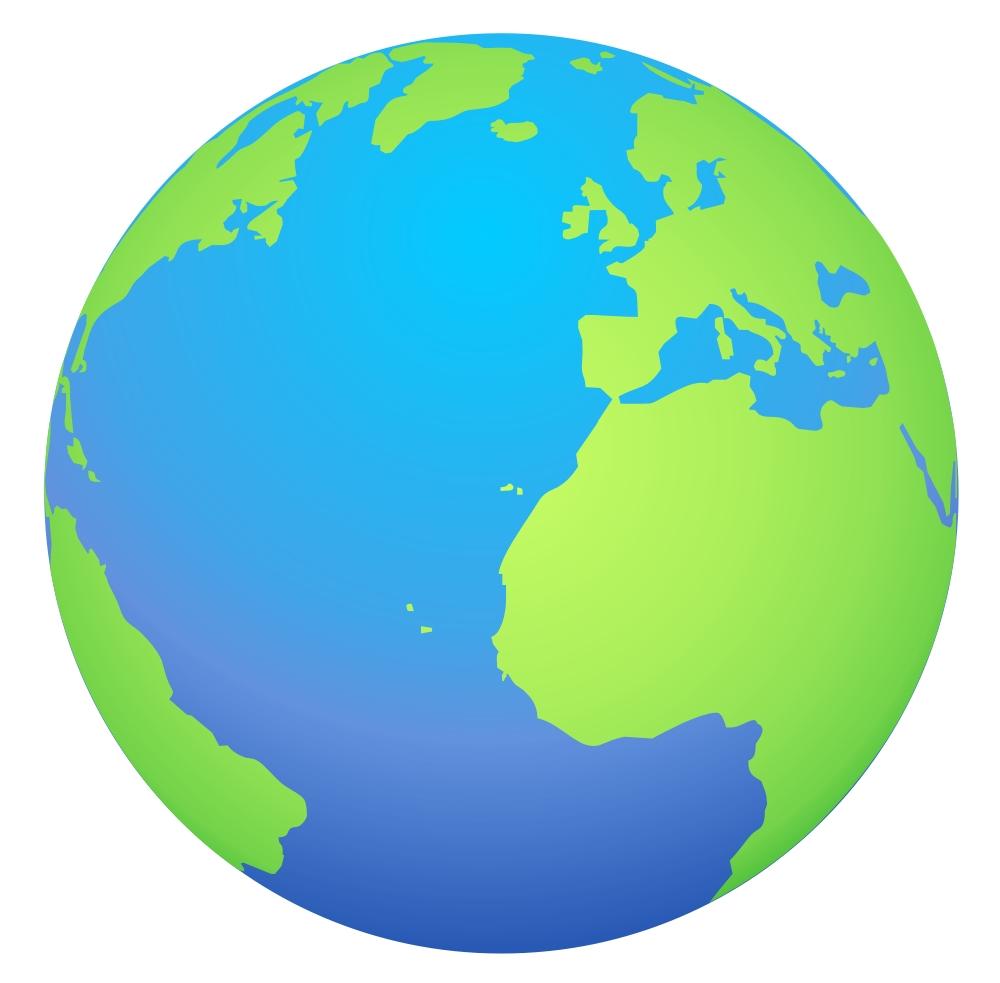 hight resolution of cartoon globe