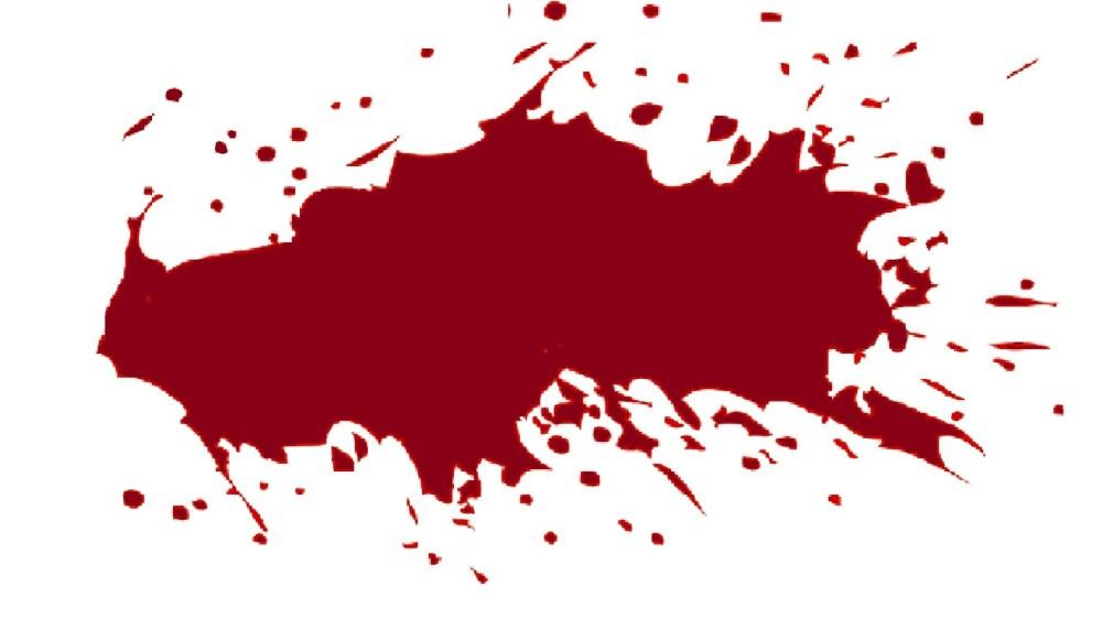 medium resolution of transparent blood splatter