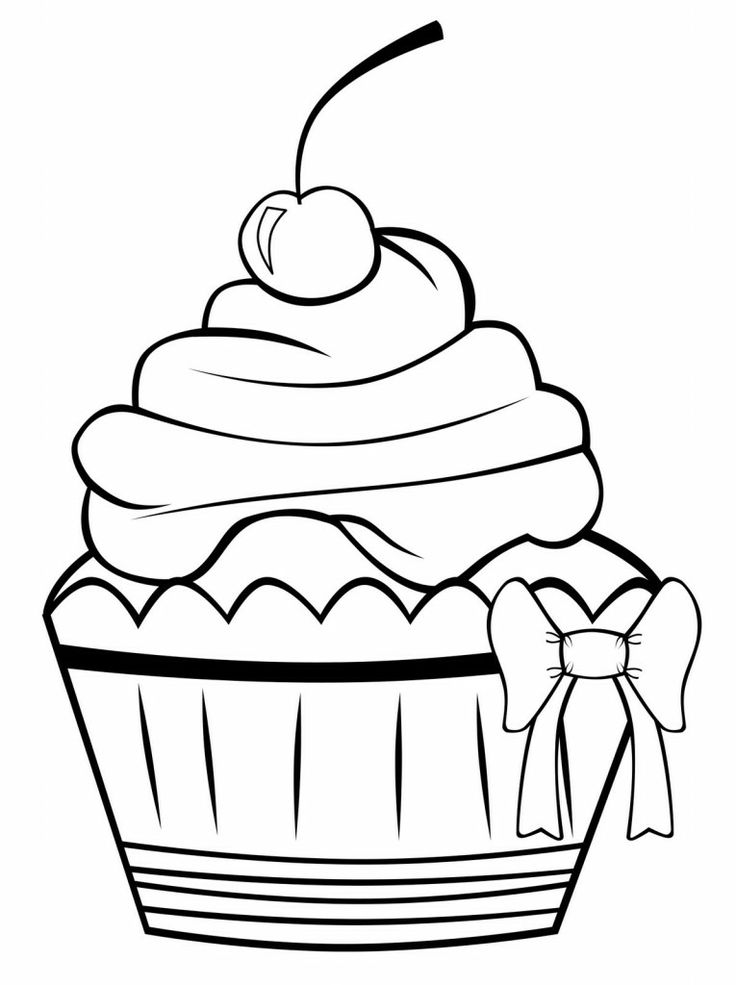 Free Cupcake Outline, Download Free Clip Art, Free Clip