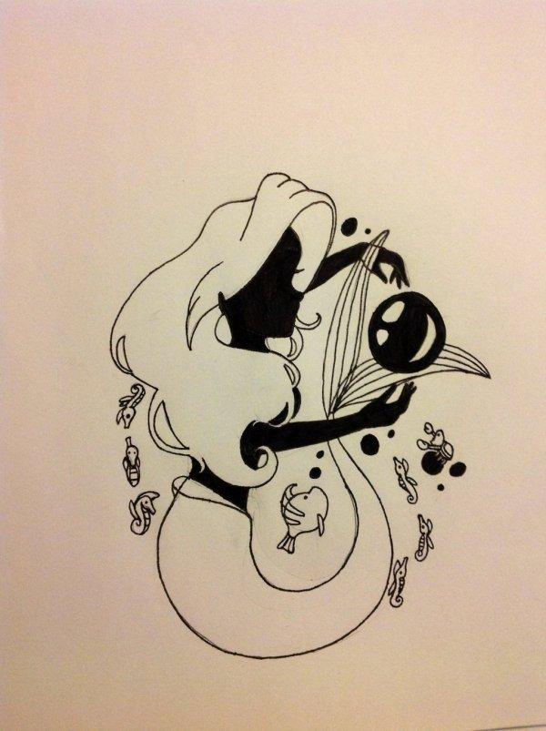 Free Little Mermaid Silhouette Clip Art Clipart Library
