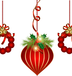 transparent red christmas ornaments png clipart [ 5511 x 4363 Pixel ]