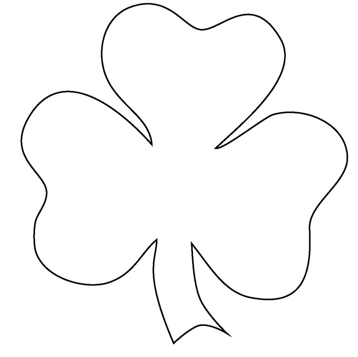 Free Outline Of A Shamrock, Download Free Clip Art, Free