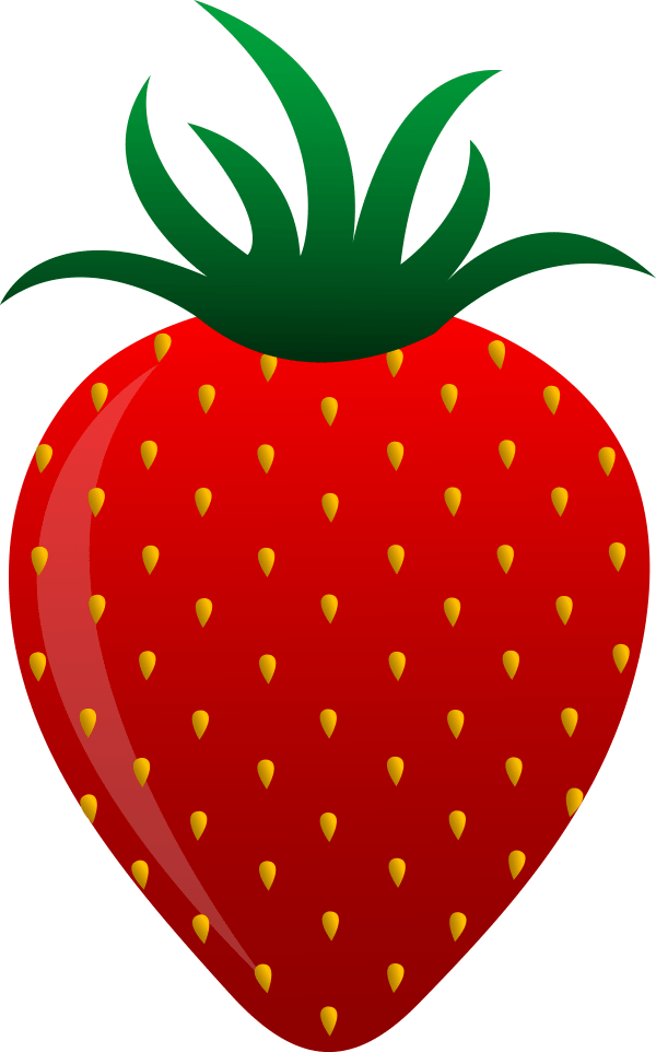 Red Strawberry Vector Art - Free Clip