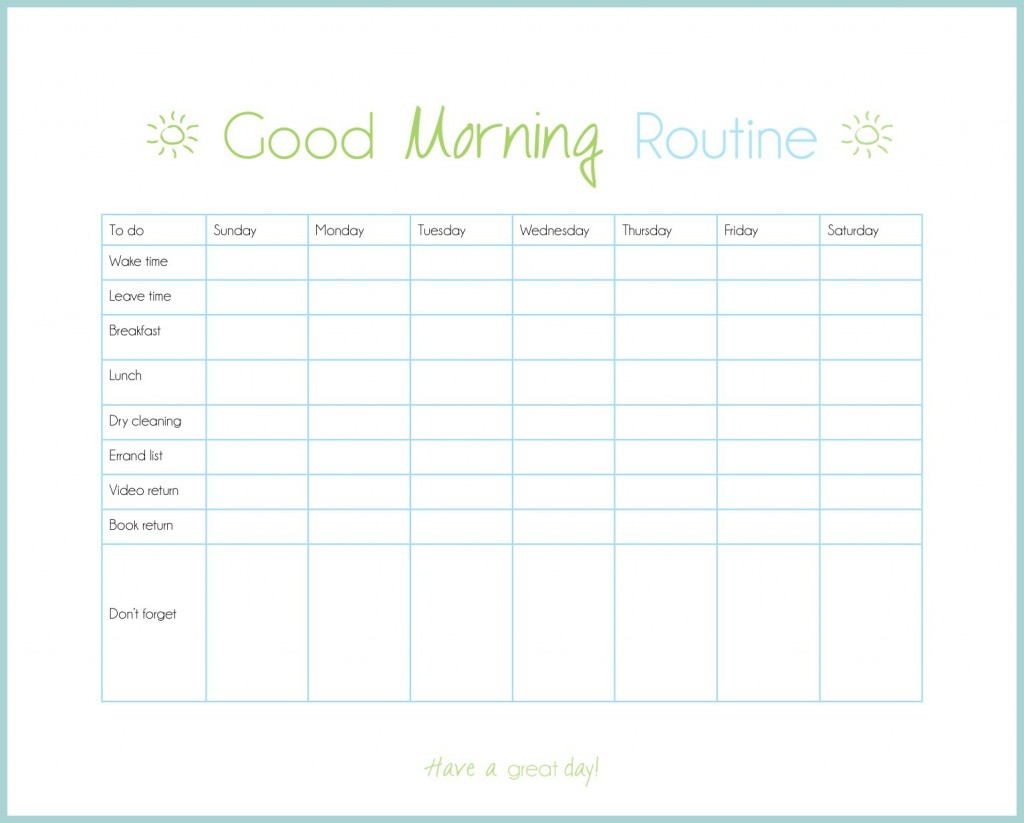 Free Morning Routine Download Free Clip Art Free Clip