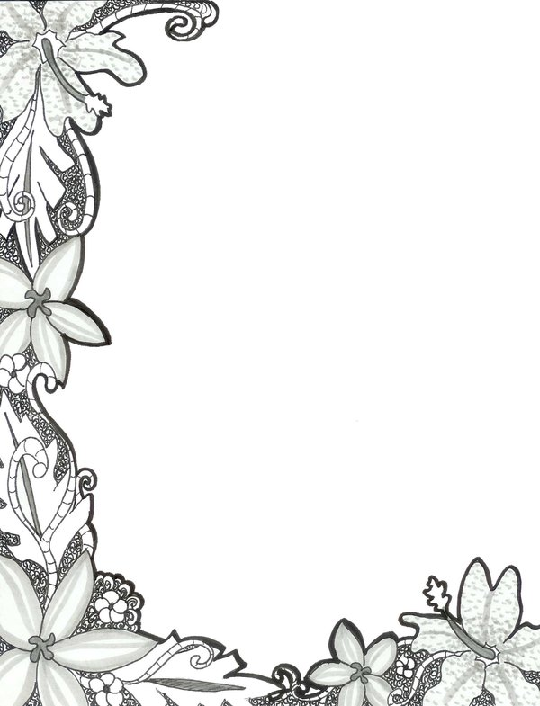 Floral Border by Floral-Moon-Zenith on Clipart library
