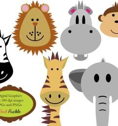animals clip art clipart zoo jungle safari wild by pinkpueblo [ 1000 x 800 Pixel ]