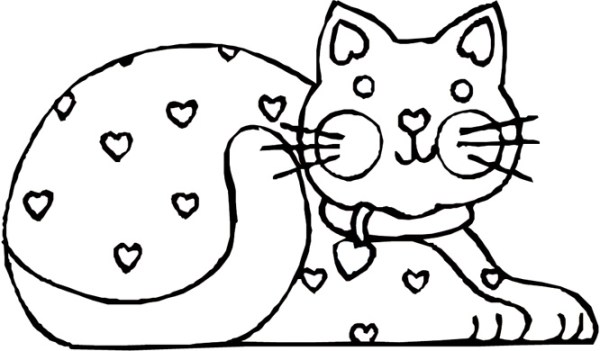 free cat coloring pages # 15