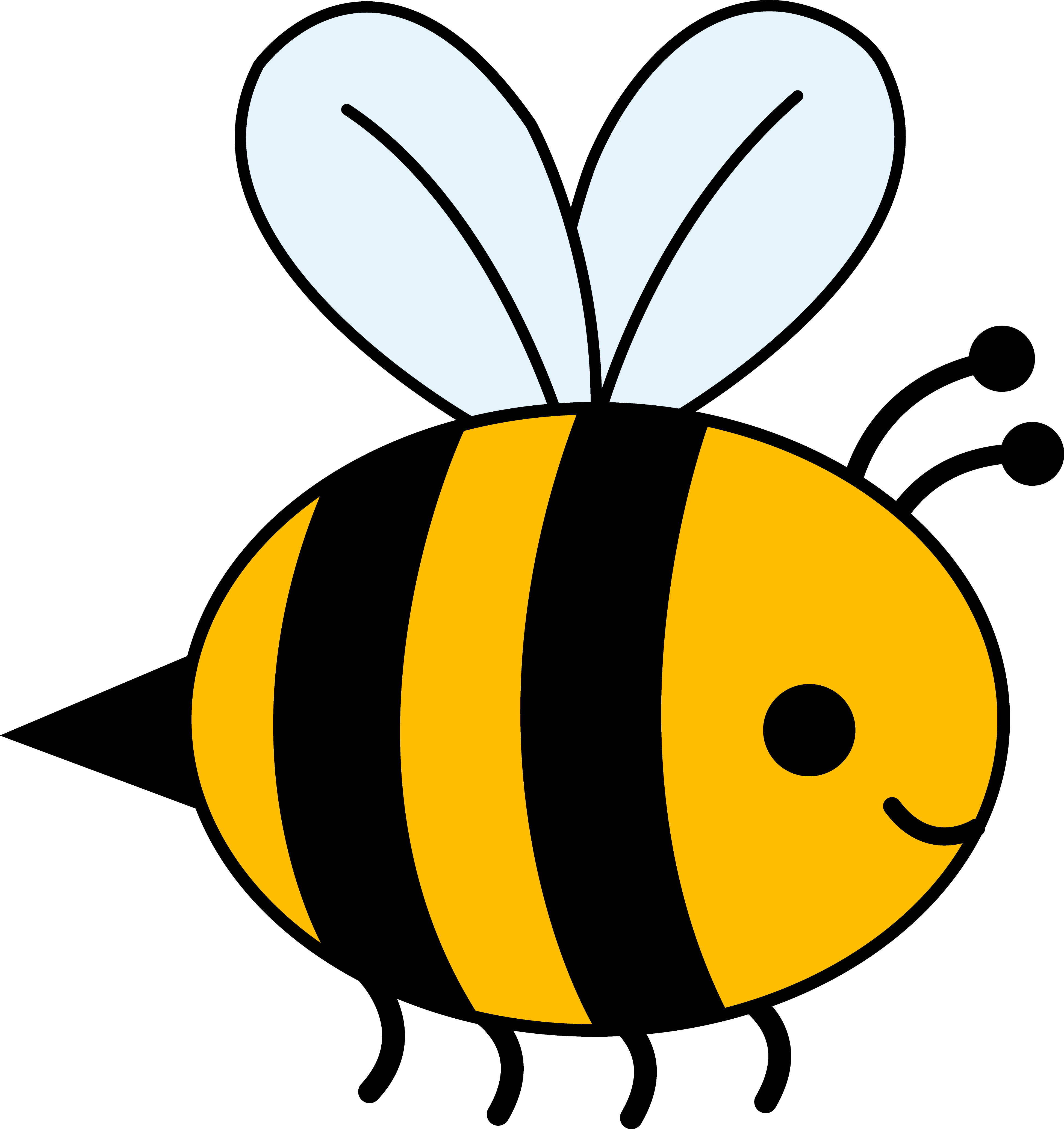 Cute And Funny Fluffy Yellow Bumble Bee Cartoo  Wallpaper