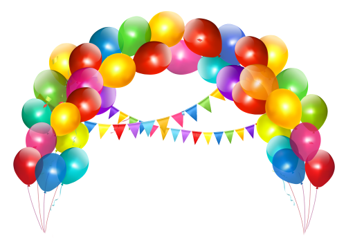 small resolution of transparent balloon arch with decoration clipart