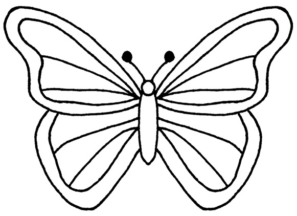 Free Outline Of A Butterfly, Download Free Clip Art, Free