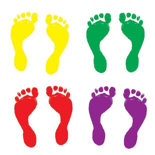Printable Footprints Clip Art