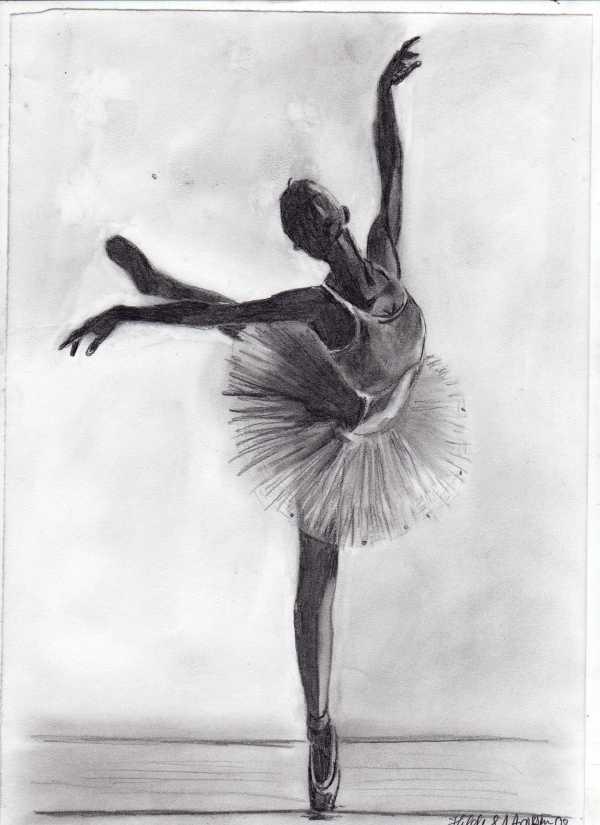 Ballerina Dancing Drawing