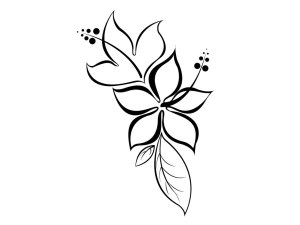 tattoo tattoos drawing flower simple designs easy drawings henna outline clip stencil paper draw clipart stencils printable hibiscus girly sleeve