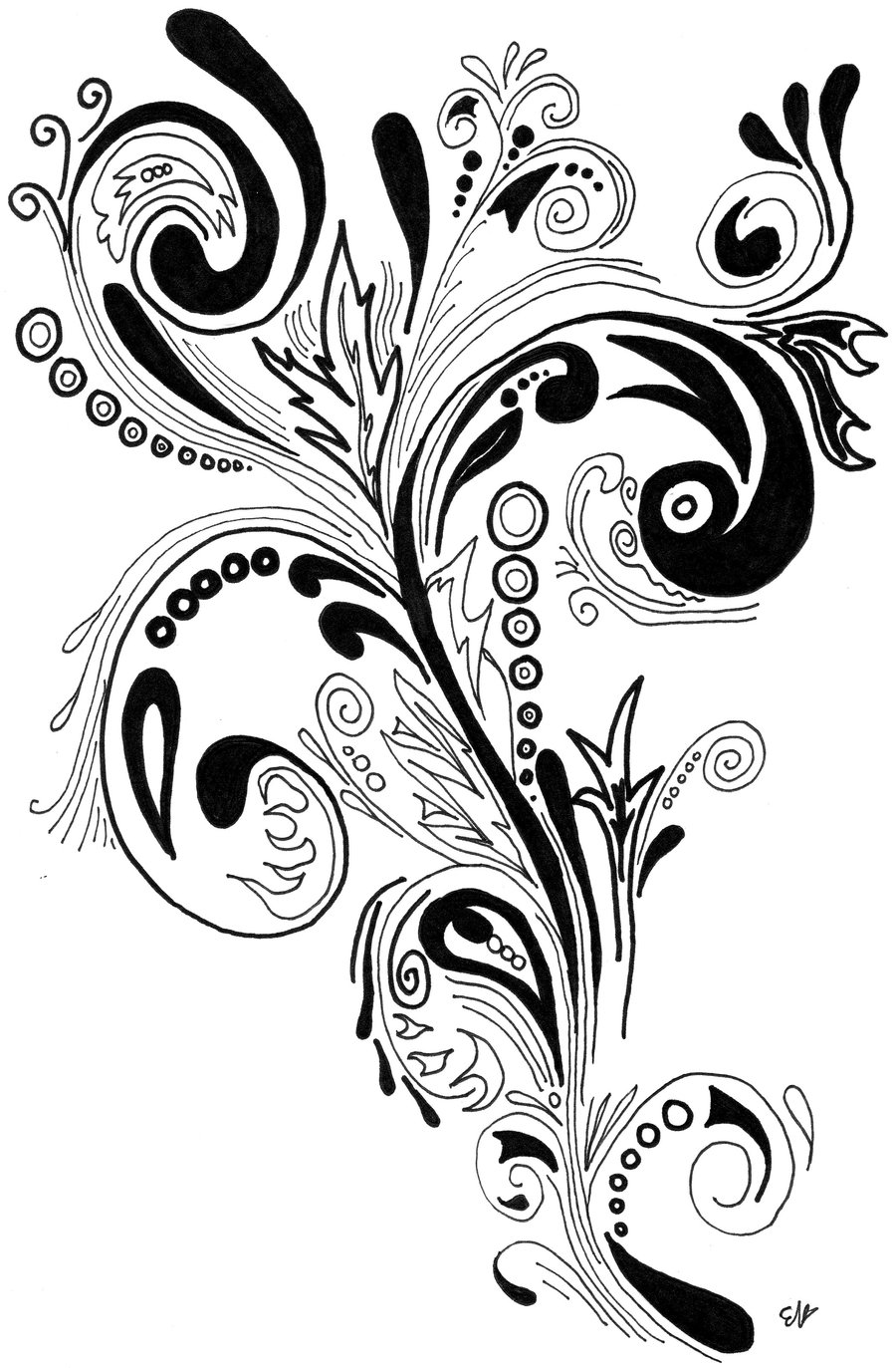 Swirling Tattoo Designs : swirling, tattoo, designs, Tattoo, Swirls,, Download, Clipart, Library