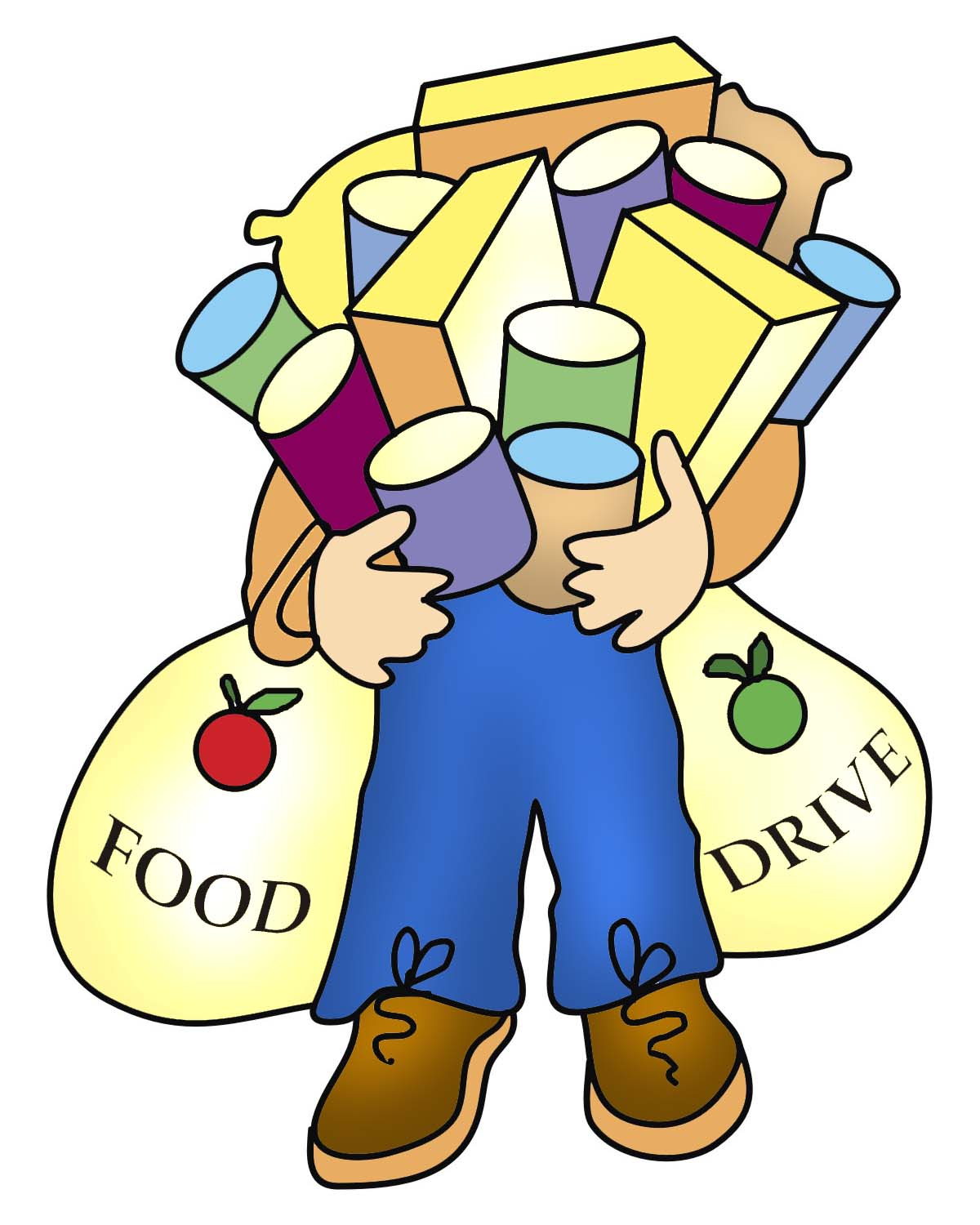 hight resolution of food drive clip art clipart library