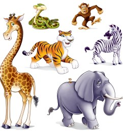 jungle safari animals clip art set perfect for all kinds of [ 1500 x 1500 Pixel ]
