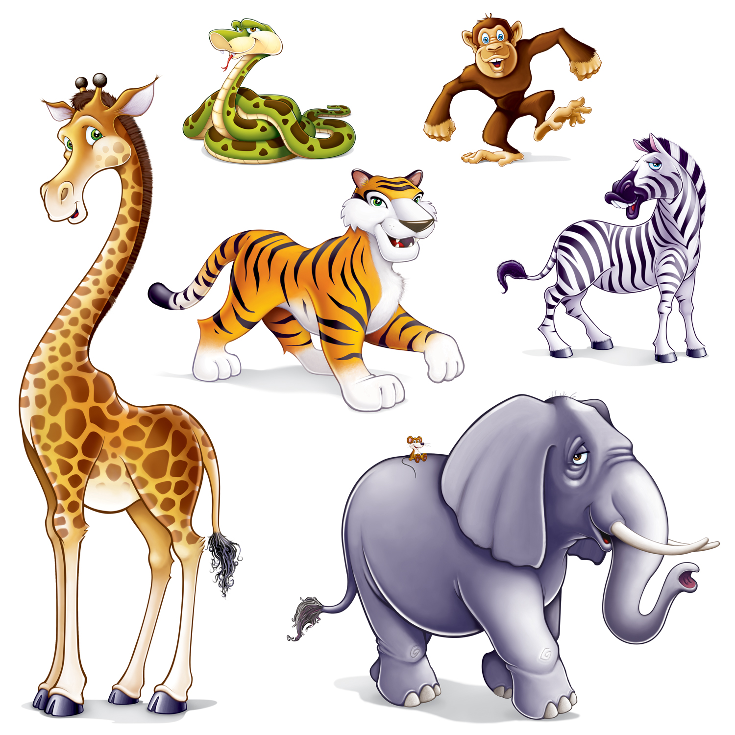 hight resolution of jungle safari animals clip art set perfect for all kinds of