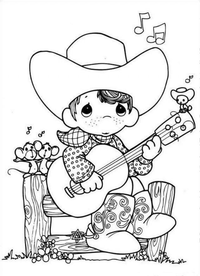 Precious Moment Singing Boy Coloring Page Coloringplus 291660