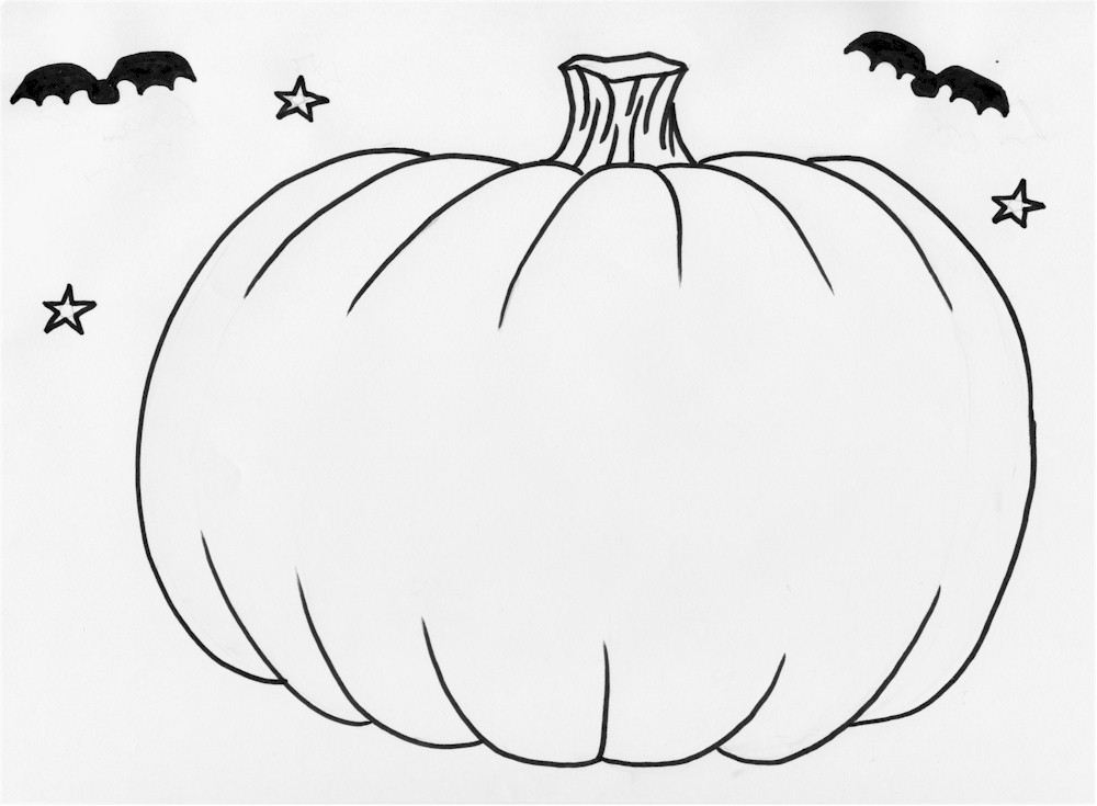 Free Pumpkin Line Drawing, Download Free Clip Art, Free