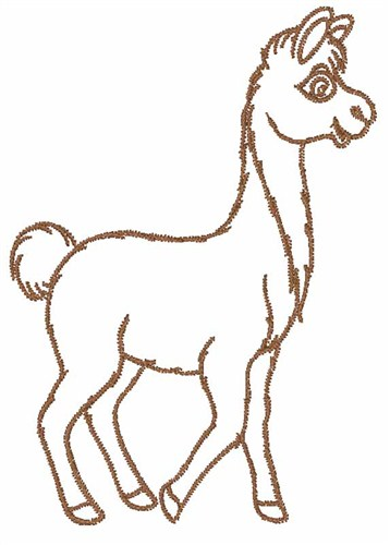 Free Llama Outline Download Free Clip Art Free Clip Art