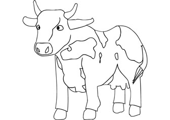 Free Cow Drawing, Download Free Clip Art, Free Clip Art on