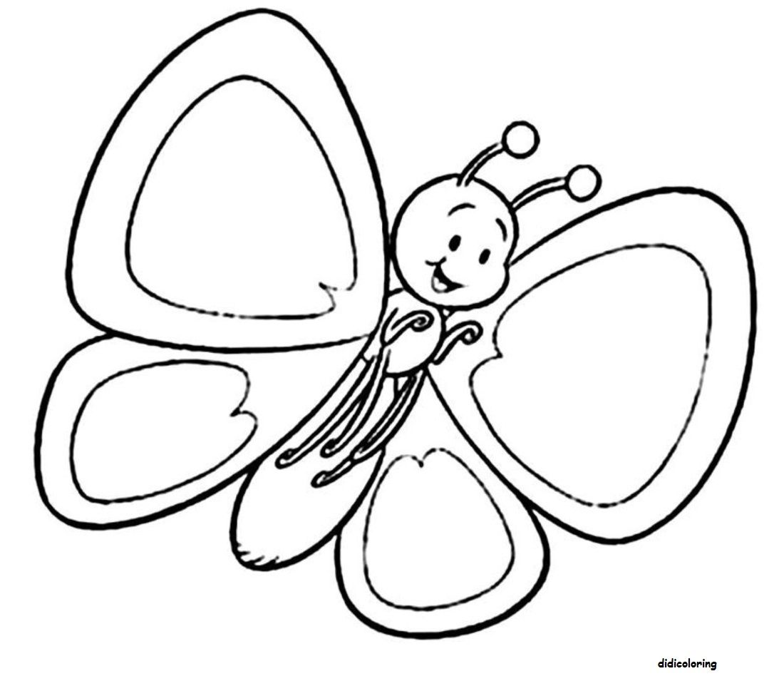 Free Cute Butterfly Line Drawing Download Free Clip Art
