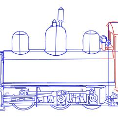 how to draw a train step by step trains transportation free [ 2326 x 1078 Pixel ]