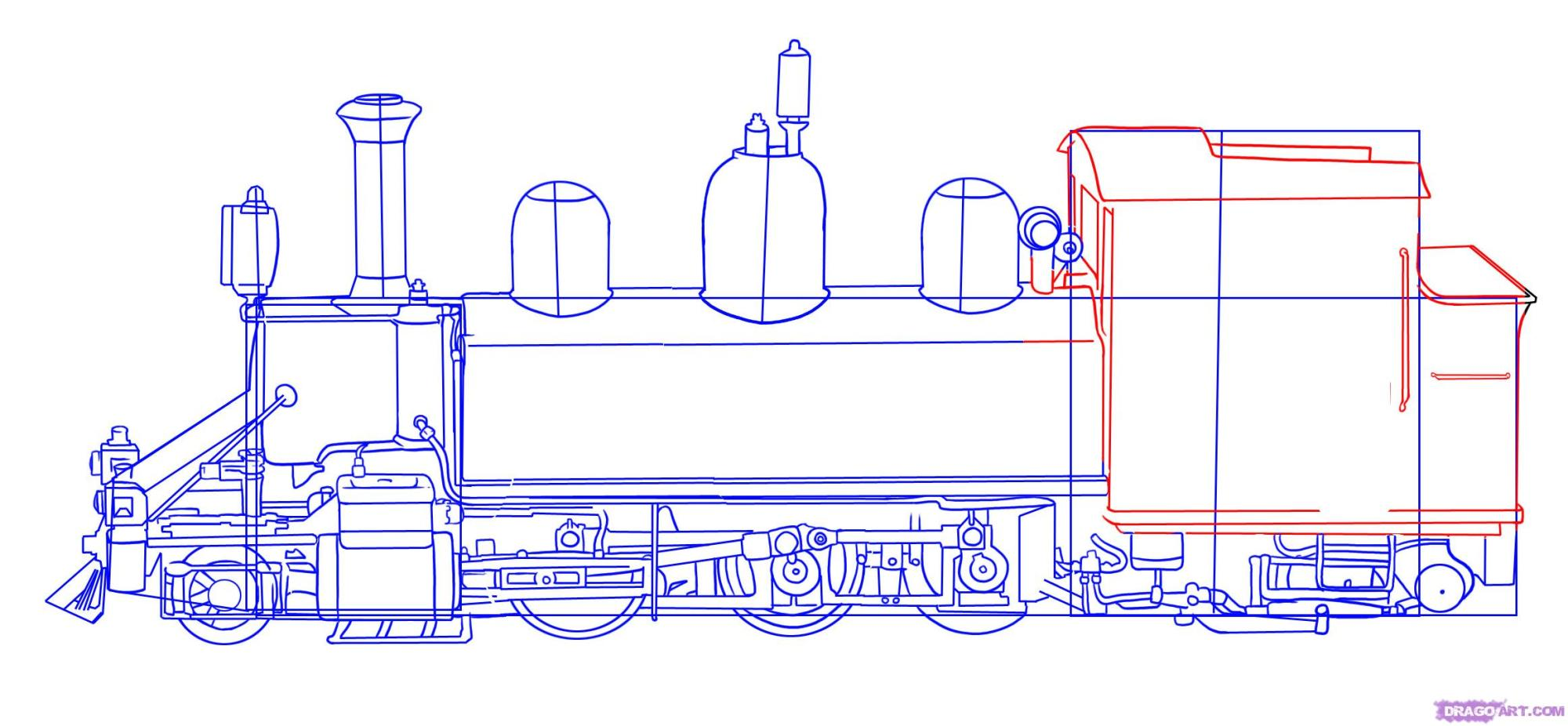 hight resolution of how to draw a train step by step trains transportation free