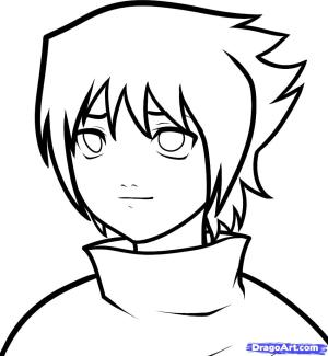 naruto sasuke easy draw drawing drawings anime step face characters cliparts uchiha sword dessin clip desenhos desenhar colorir manga hokage